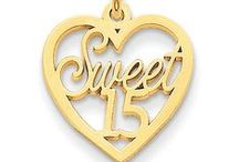 Special Day Charms / Buy Yellow & White Gold Special Day Themed Charms with thousands of latest creative designs, See all designs ===> http://www.goldia.com/search?type=product&q=sweet+16+OR+sweet+15+OR+50th+OR+birthday+charm