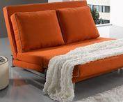 """Sofás Cama Libro / Sofassinfin.es, Sófás cama con sistema de apertura """"clic-clac"""" o apertura de libro son cómodos y económicos, donde el asiento del sofá ejerce de colchón al convertirse en cama."""