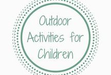 Outdoor Activities for Children / Outdoor activities for children to help them play, learn about nature and enjoy little adventures. Sensory play | Outdoors | Children outdoors | Outdoor play | Outdoor play area | Gardening with kids