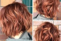 Hairstyle Inspiration / Copper brown wavy shaggy bob