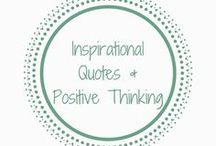 Inspirational Quotes and Positive Thinking / Inspirational and positive quotes to help keep you motivation Inspirational Quotes | Motivation | Positive Thinking | Quotes |