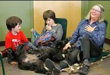 """Dogs & Children / """"Having a family with dogs and children can be hard work, especially in the beginning, but the fruits of your labor are priceless."""" - Christine Allen #dogs #children"""