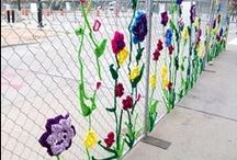 Neulegraffiti / knit graffiti, guerilla knitting, yarn bombing