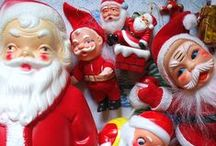 """Creepy Santa & Friends /   """"He Sees You When You're Sleeping, He Knows When You're Awake"""""""