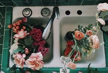 flowers among greens. / flowers, flowers, flowers.
