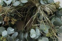Wreaths / Ghirlande e corone di verde e fiori