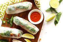 L'assiette végane asiatique / Manger asiatique avec un grand V