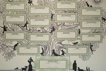 Family trees / Alberi genealogici