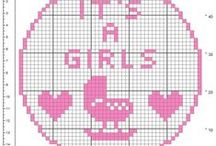 Birth bows free filet crochet patterns / Birth bows free filet crochet patterns
