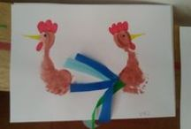 creative crafts made by kids with disabilities / fast all made by my children with disabilities :) at kindergarten