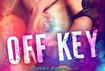 Book # 2 - Off Key / Brandon, musician, rocker romance, friends with benefits, inspiration,tattoos, man candy   ☆☆ Releases Aug. 5ht ☆☆  Amazon US: http://bit.ly/offkeyus  Amazon UK: http://bit.ly/offkeyuk  Goodreads: https://www.goodreads.com/book/show/30537858-off-key