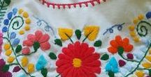 Mexican Embroidered Blouse / Inspiration for sewing and embroidering my own