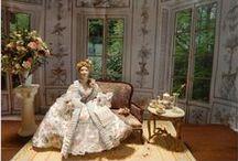 My miniature dolls / Dollhouse dolls by Béatrice Thiérus . Poupées miniatures réalisées en porcelaine.