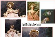 Marie-Antoinette Dolls / Porcelain miniature dolls :  Marie Antoinette by Béatrice Thiérus