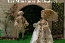 Rencontres amoureuses en miniature/Dates under a parasol or an umbrella. /  Miniature dolls .
