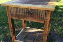 End Tables / Night Stands / A variety of end tables / night stands from vintage re-purposed to reclaimed wood.