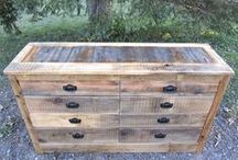 """Re-purposed Dressers / Dressers that have been """"rescued"""" and given a """"face-lift"""" with reclaimed wood."""