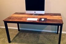 Wood Desks / Tables / A variety of desks and tables, some constructed for reclaimed wood materials.