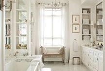 Parisian Bathroom & Vanity / A crisp, clean bathroom and vanity is the room that can change the course of your day. Put on your makeup and perfume at a dressing table fit for Rita Hayworth.