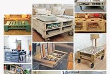 Muebles con palets - Pallets furniture / Mesas, sillas, muebles de bar, sofás de palets... Todo lo que puede hacerse realidad con un palet. Tables, chairs, sofas... Everything that can be made out of pallets.