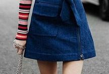 It's all about denim skirt