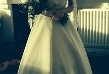 Patriciahenry sewing courses / Beautiful wedding dress designed and made by myself in duchess satin and Italian lace