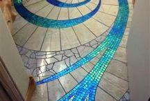 Flooring ideas / Floors, tiles, tiling, carpets, interior design and architecture creative spaces