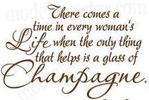 We drink wine...