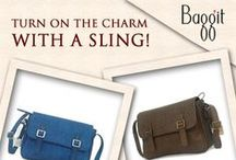 Slings go Stylishly-Sassy!  / Turn your #World around with a #Stylish #Sling! Whether a busy day or a fun one out with #friends these cuties made of luxurious cruelty-free synthetic leather house ample room for one's essentials.  Grab that dress and work in a #feminine cool look! Its time to turn some heads! Avail these beauties at : www.baggit.com