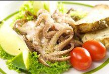 Dish made of sea delicacies