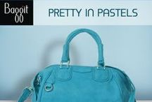 Fashionistas, Time to Look Pretty in Pastels! / Follow the Adorable Pastel trend with a wide range of handbags from Baggit. From a minty-green satchel bag to a sweet rose-colored tote, get pastel-happy. Made from durable cruelty-free quality leather, Baggit's pastel Bags are a great way to add some color to your overall look without going too bright that compliments you. This summer, start mixing pastel fashion accessories from Baggit.Select & Shop your Favorite Pastel Handbag at www.baggit.com.
