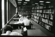 Library, VRC, & Archive @ 50 / Historic and contemporary photos of the Architecture Library, the Visual Resources Collection, and the Drawings + Documents Archive. The College of Architecture and Planning at Ball State University celebrates its 50th Anniversary this year.