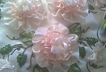 Textile/Ribbon Flowers and Bowes