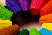 Colorful World Rainbow / Rainbows: Color is everywhere.  Classroom and Office Rainbow ideas. #WorkColorfully #LiveColorfully