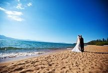Best Places to Get Married in Lake Tahoe / The only thing more beautiful than a Lake Tahoe backdrop is the bride!