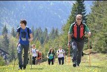 Trekking & Camminare / Alle Terme di Comano camminare è stile di vita! Numerosi sono i percorsi trekking sulle Dolomiti e le passeggiate nella valle che potrete percorrere durante una vacanza natura in Trentino