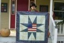 American Barn Quilts / Outdoor artwork! The perfect americana embellishment to adorn your barn, garage or even your house.