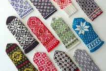 Mittens, gloves and hand warmers / Knitted, crocheted, hand maded. All kind of patterns and colour inspiration.