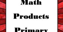 Math Products for Primary / This board is for any products for pre-K thru 3rd math.