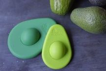 Avocado Huggers / Besides four sizes of round silicone covers for left over veggies and fruit (or to cap that open can or jar) we are thrilled to offer Avocado Huggers to hug unused avocado halves