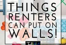 Rental Decorating / When you are a tenant and want to make the rental house your home