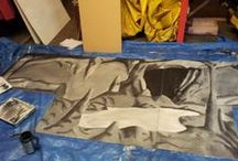 Labyrinth 3D cave maze  / One of our instructors, Becky Wilton, is painting a cave for the labyrinth 3D cave maze experience. It's not quite finished yet but the photos show the progress she's made and it's already looking really impressive!