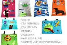 Airplane/Activity Tray Covers / These are great for entertaining children on flights or wrap them around a cookie sheet so they can use them on long car rides or at home for quiet time too!!! Turn it over and use the back as a Felt Board!