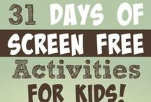 Ideas to Limit Screen Time / There is endless research on the dangers of extensive screen time in young children...here are some great ideas for your kiddos to do that doesn't involve a tv or tablet!