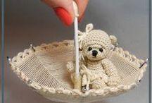 My crochet toys / мои миниатюрные мишки и их друзья связаны крючком