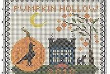 Halloween cross stitch / Halloween cross stitch