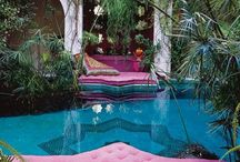 Boho Exterior Spaces / The ideal Bohemian home brings the outdoors in, and the indoors out... / by Taylor Hansen