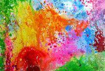 Obrazy akrylowe i pastelowe, Kraina Marzeń Serca / Opowiada o moim spojrzeniu na świat, o tym jak mnie dotyka przyroda. Jak  dotykam swych uczuć, które ubieram w obraz, w barwną opowieść  stworzą własnymi dłońmi.