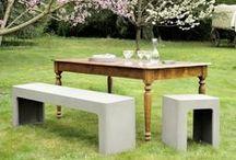 DU BÉTON POUR VOS MEUBLES D'EXTÉRIEUR par Lyon Béton / Apportez une touche de minimalisme à votre scène extérieur avec cette sélection de meubles en béton. Elégants et résistants. Plus d'inspiration sur www.lyon-beton.com/fr/
