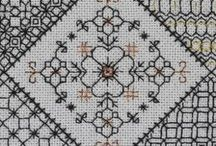 Stitchery II: Blackwork / Blackwork - one of the most amazing things I discovered on Pinterest. I knew nothing about this thread art until I stumbled across some patterns while looking for simple cross stitch patterns, because over here in Manila when you say cross stitch patterns you mean those big needleworks which are hung on the wall; we were not familiar with small kits or blackwork.